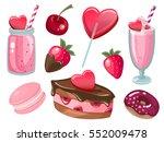 valentine's day romantic dating ... | Shutterstock .eps vector #552009478