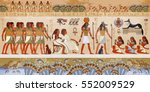 egyptian gods and pharaohs.... | Shutterstock .eps vector #552009529