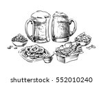 the composition of drinks and... | Shutterstock . vector #552010240