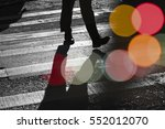 urban art with people and city... | Shutterstock . vector #552012070