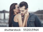 young woman whispering love... | Shutterstock . vector #552015964