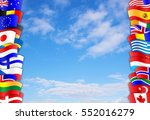 flags of many different...   Shutterstock . vector #552016279