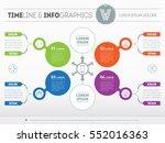 vector infographic of... | Shutterstock .eps vector #552016363