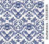 blue ikat ogee and damascus... | Shutterstock .eps vector #552018034