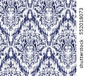 blue ikat ogee and damascus... | Shutterstock .eps vector #552018073