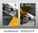 yellow flyer cover business... | Shutterstock .eps vector #552021679