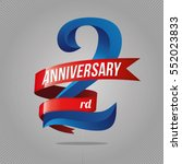 2 years anniversary celebration ... | Shutterstock .eps vector #552023833