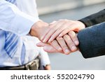Image Of Businesspeople Hands...