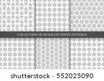 collection of seamless simple... | Shutterstock .eps vector #552025090