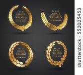 wreath vector icon set .laurel... | Shutterstock .eps vector #552025453