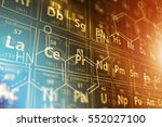 periodic table science concept... | Shutterstock . vector #552027100