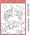 coloring book page. little... | Shutterstock .eps vector #552027760