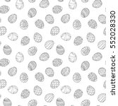 easter eggs seamless pattern in ... | Shutterstock .eps vector #552028330