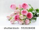 Pink Rose Flowers Bouquet On...