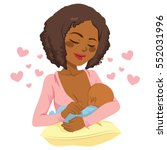 young african american mother... | Shutterstock .eps vector #552031996