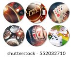 six isolated casino badges.... | Shutterstock . vector #552032710