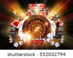 shiny illuminated casino... | Shutterstock . vector #552032794