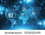 global network safety concept.... | Shutterstock . vector #552033190