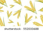 paddy wheat grain with grass... | Shutterstock .eps vector #552033688