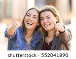 front view portrait of two... | Shutterstock . vector #552041890