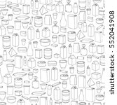 food packaging seamless pattern.... | Shutterstock .eps vector #552041908
