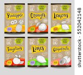 set of colorful labels  sketch... | Shutterstock .eps vector #552042148