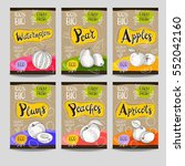 set of colorful labels  sketch... | Shutterstock .eps vector #552042160