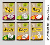 set of colorful labels  sketch... | Shutterstock .eps vector #552042178
