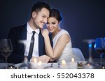 young couple enjoying romantic... | Shutterstock . vector #552043378