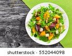 healthy delicious winter salad... | Shutterstock . vector #552044098