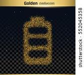 gold glitter vector icon   Shutterstock .eps vector #552045358