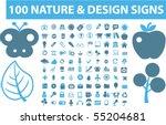 100 nature   design signs.... | Shutterstock .eps vector #55204681