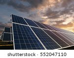solar panels with morning... | Shutterstock . vector #552047110