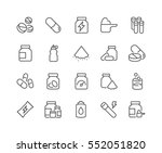 simple set of sport supplements ... | Shutterstock .eps vector #552051820