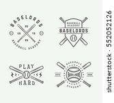 vintage baseball logos  emblems ... | Shutterstock .eps vector #552052126