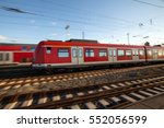 speeding trains | Shutterstock . vector #552056599