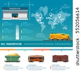freight trains infographics.... | Shutterstock .eps vector #552056614