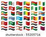 wavy flags set   africa  ... | Shutterstock .eps vector #55205716