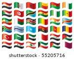 wavy flags set   africa  ... | Shutterstock .eps vector #55205716