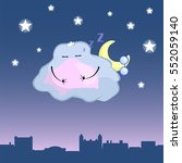 Cute Cloud Character Cartoon...