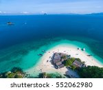 aerial view of small isolated... | Shutterstock . vector #552062980