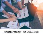 business people brainstorming... | Shutterstock . vector #552063358