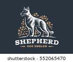shepherd dog logo   vector... | Shutterstock .eps vector #552065470