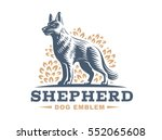 Shepherd Dog Logo   Vector...