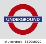 vector logo of the london... | Shutterstock .eps vector #552068020