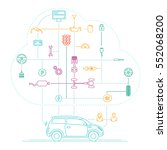internet of things for the car | Shutterstock .eps vector #552068200