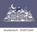 winter village christmas... | Shutterstock .eps vector #552071164