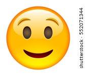 happy smile of emoticon. smile... | Shutterstock .eps vector #552071344