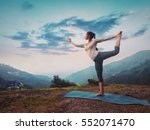 woman doing yoga asana... | Shutterstock . vector #552071470