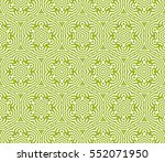 decorative floral seamless... | Shutterstock .eps vector #552071950